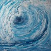 Kraft, Energie, Welle, Aquarellmalerei
