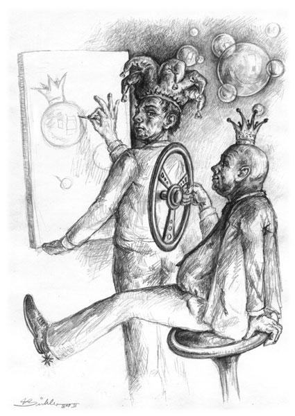 Bleistiftzeichnung, Zeichnung, Skurril, Figur, Zeichnungen,