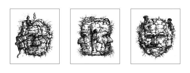 Stein, Zeichnung, Welt, Bergwesen, Natur, Skurril