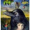 Skurril, Traum, Aquarellmalerei, Figur