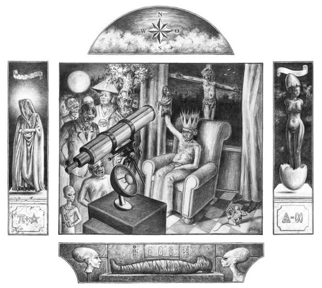 Skurril, Figur, Traum, Wunder, Zeichnung, Zeichen