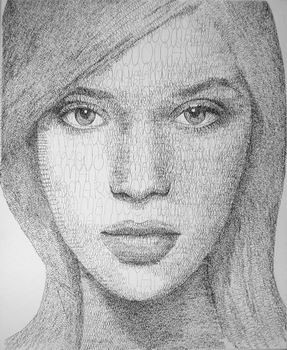 Gesicht, Portrait, Frau, Malerei, Figural