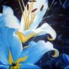 Blumen, Blau, Gelb, Quadrat