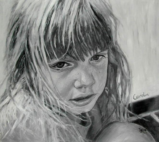Schwarz weiß, Malerei, Figural, Acrylmalerei