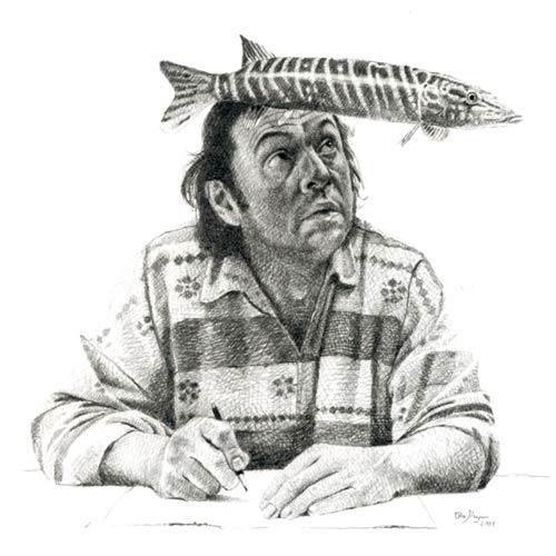 Skurril, Selbstportrait, Realismus, Zeichnung, Zeichnungen