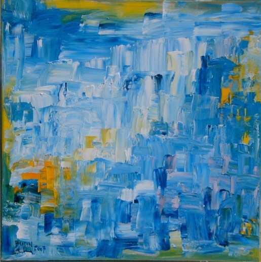 Blau, Abstrakt, Malerei, Sehnsucht