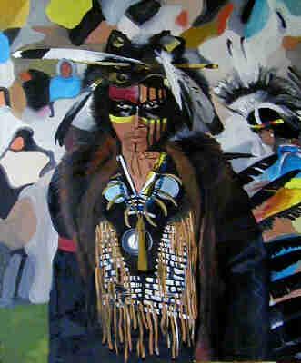 Wicken, Americans, Tänzer, Malerei, Figural, Ölmalerei