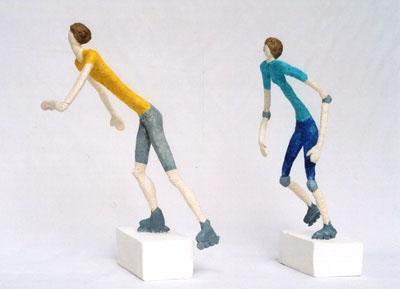 Skulptur, Figur, Plastiken, Töpferei, Figural, Keramikfiguren