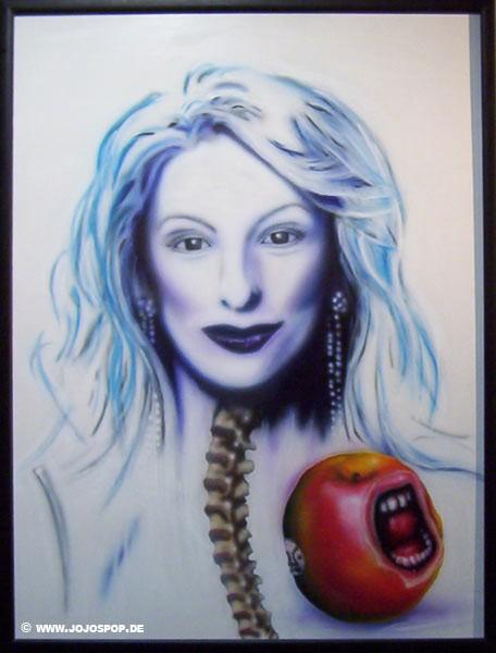 Malerei, Surreal, Apfel