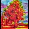 Landschaft, Malerei, Neon, Kiekebusch