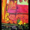 Malerei, Neon, Landschaft, Kiekebusch