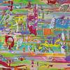 Kinder, Streifen, Gemälde, Umwelt