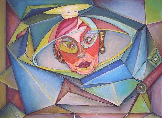 Abstrakt, Berlin, Geometrie, Malerei, Erleuchtung,
