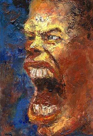 Portrait, Menschliche, Mann, Expressionismus, Malerei