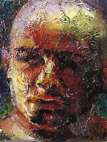 Expressionismus, Portrait, Menschliche, Mann, Malerei