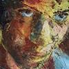 Expressionismus, Böse, Portrait, Kopf