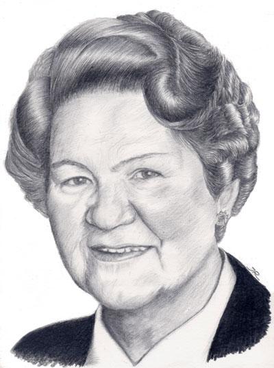 Katharina Portrait Zeichnung Oma Zeichnungen Von Jutta Richter