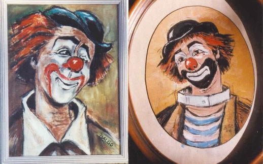 2 clowns  malerei von balgo  brigitte steinbacher bei