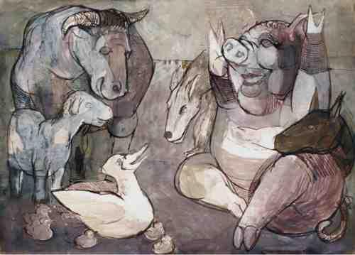 Tierbuch, Zeichnungen