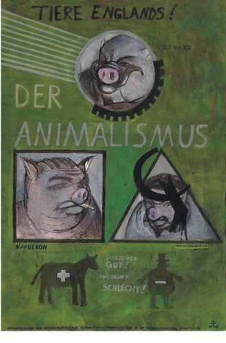 Tierbuch, Bauernhof, Tiere, Orwell, Zeichnungen, Gen