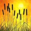 Sonne, Gelb, Malerei, Landschaft