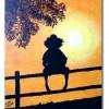 Sonnenuntergang, Acrylmalerei, Kind, Malerei