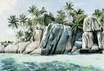 Grafik, Aquarellmalerei, Aquarell, Island
