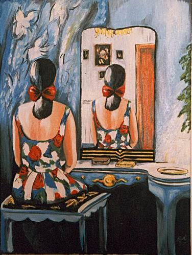 Surreal, Malerei, Spiegel