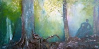 Malerei, Pflanzen, Zauberwald,