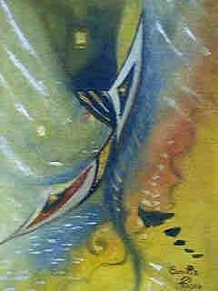 Sommer, Malerei, Abstrakt, Gelb