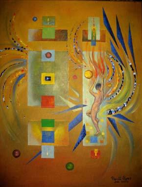 Mann, Geometrie, Malerei, Uomo, Abstrakt, Menschen