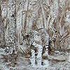 Malerei, Skizze, Tiere, Urwald