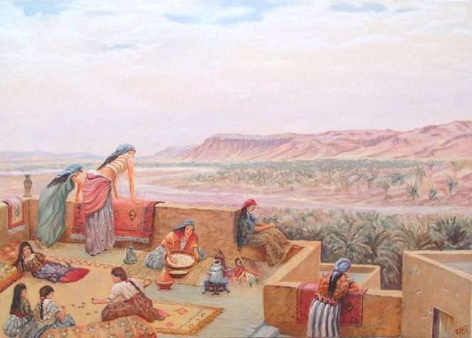 Malerei, Landschaft, Schwestern