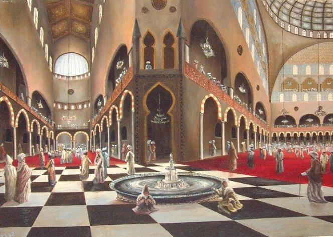 Zeitgenössisch, Figural, Orientalismus, Malerei