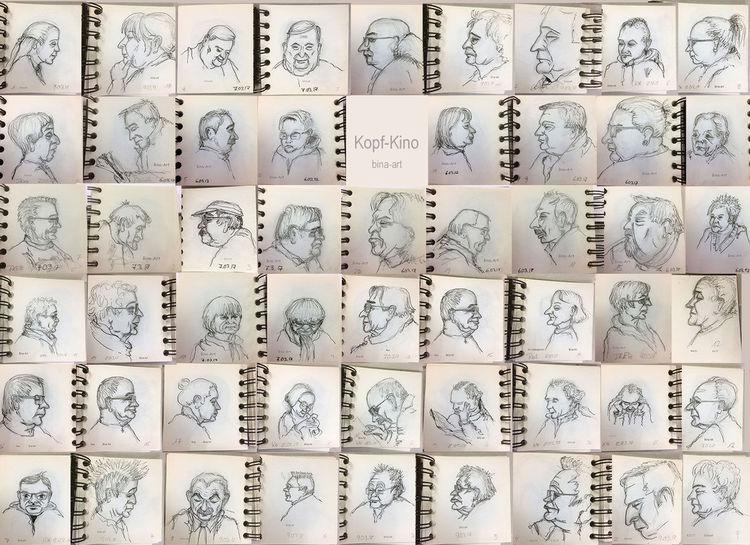 Oneweek100people, Kopf, Skizze, Skizzenbuch, Portrait, Zeichnungen