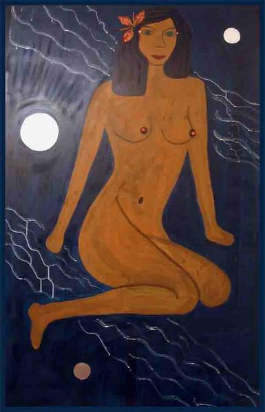 Figural, Malerei, Menschen, Frau, Paradies