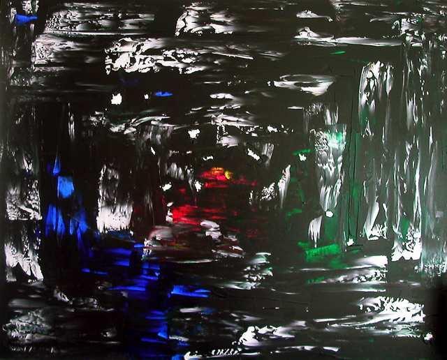 Gegenstandslos, Acrylmalerei, Aluminium, Malerei, Abstrakt, Schwarz
