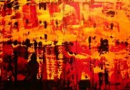 Acrylmalerei, Malerei, Orange, Abstrakt