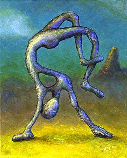 Struktur, Figur, Abstrakt, Spachtelstruktur, Acrylmalerei, Fantasie