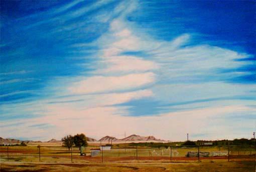 Himmel, Realismus, Landschaft, Malerei, Berge, Weide