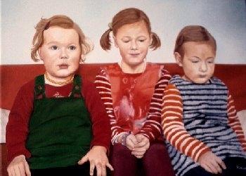 Figural, Mädchen, Malerei, Portrait, Grazien