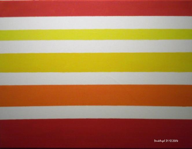 Orange, Gelb, Lineare, Malerei, Weiß, Rot