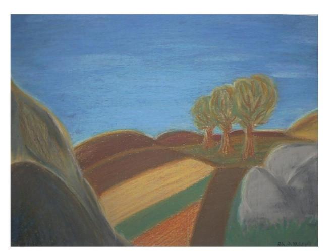 Malerei, Herbst, Fantasie, Landschaft, Weite