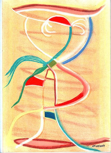 Kontrast, Abstrakt, Malerei, Fantasie, Frau