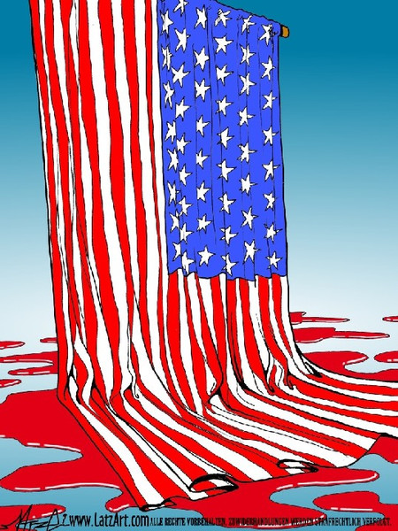 Surreal, Usa, Flagge, Blut, Stern, Stripes