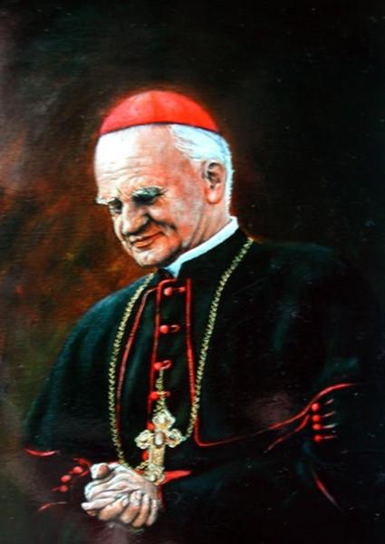 Malerei, Ölmalerei, Figural, Kardinal