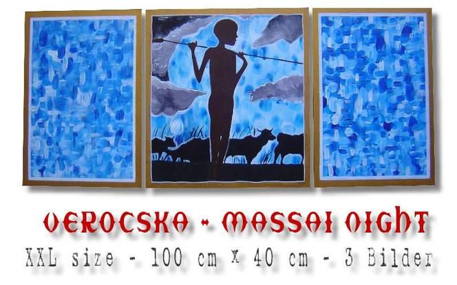 Massai, Malerei, Figural, Afrika,