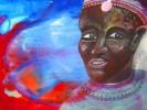 Aquarellmalerei, Afrika, Armut, Schriftbilder