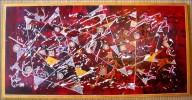 Holz, Malerei, Zirkus, Abstrakt