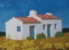 Malerei, Landschaft, Haus